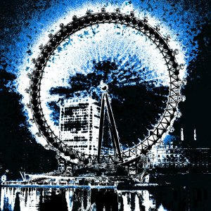 London Eye Blue