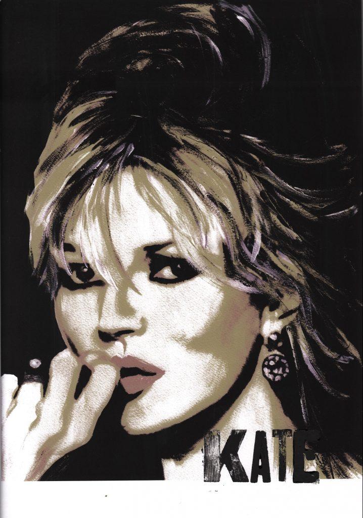Grey Kate Moss