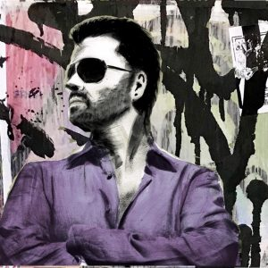 George Michael Purple Shirt Painting