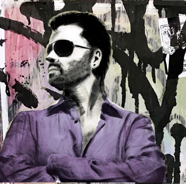 George Michael Purple Shirt Painting