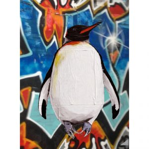 Graffiti Background Penguin