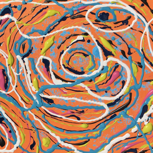 Orange Swirly Abstract Painting