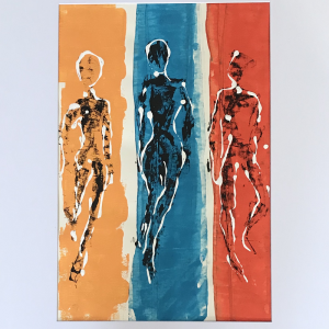 Orange, Blue and Red Figures