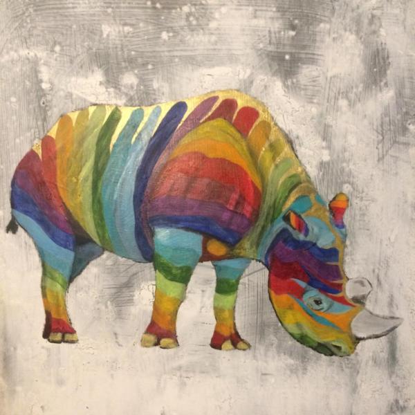 Colourful Rainbow Rhino