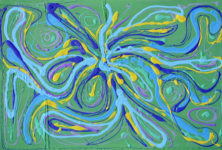 Abstract Spring Green Painting