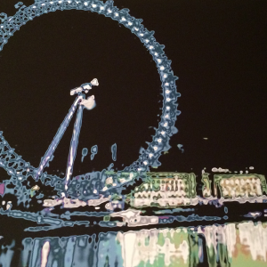 London Eye Abstract Night Painting